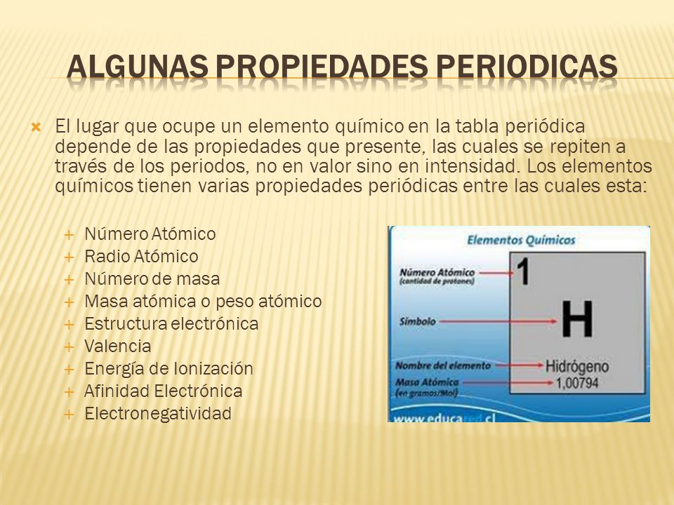 La tabla peridica lic amalia vilca prez ppt video online descargar algunas propiedades periodicas 21 nmero atmico urtaz Choice Image
