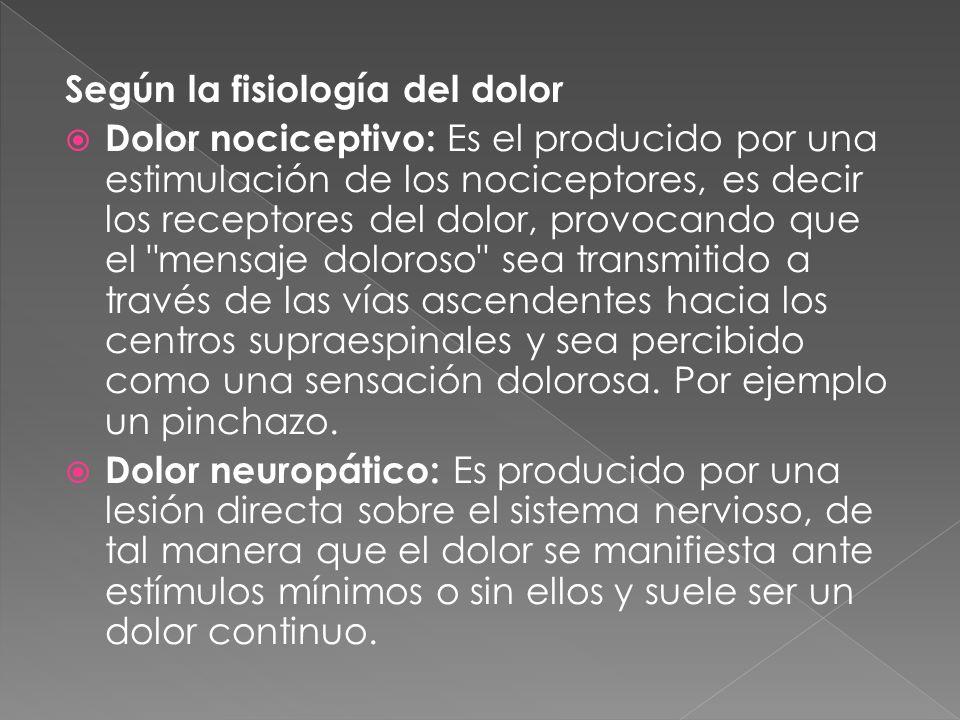 FISIOPATOLOGIA DEL DOLOR - ppt descargar