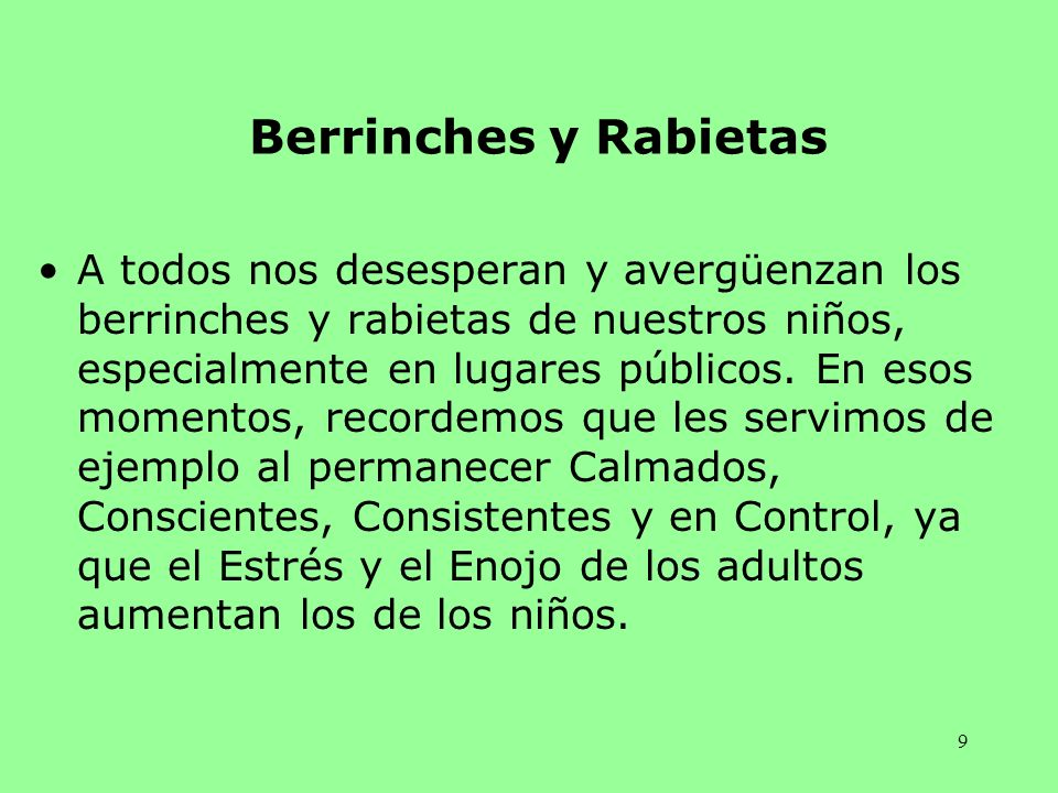 Berrinches y Rabietas