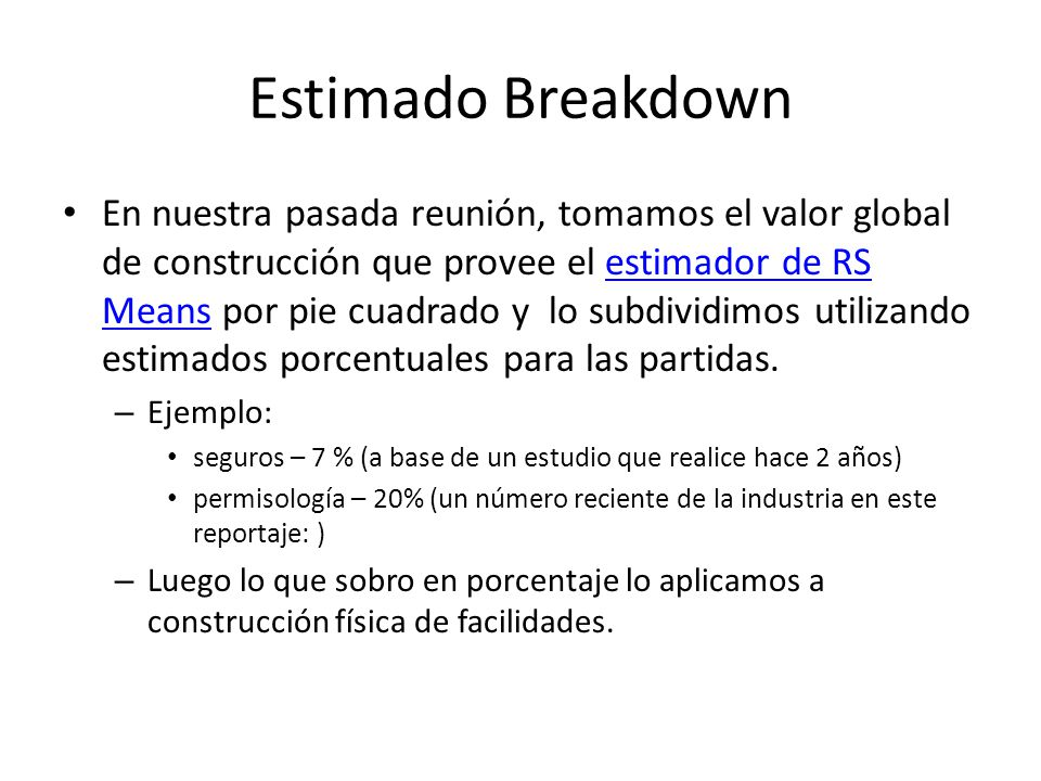 continuing education program construction costs estimating ppt