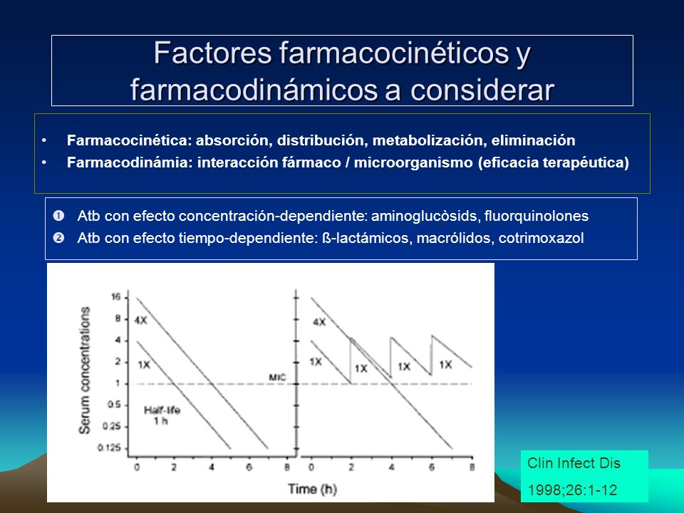 Factores farmacocinéticos y farmacodinámicos a considerar