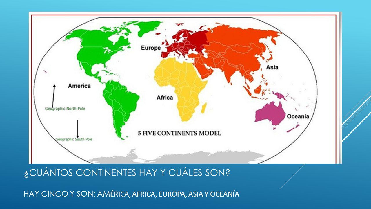 Cuales Son Los 6 Continentes Del Planisferio: Continentes, Océanos, Mares, Ríos, Y Lagos