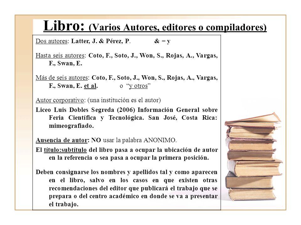 eb10c3c18f99c Tag  Como Poner Bibliografia De Un Libro Con Varios Autores