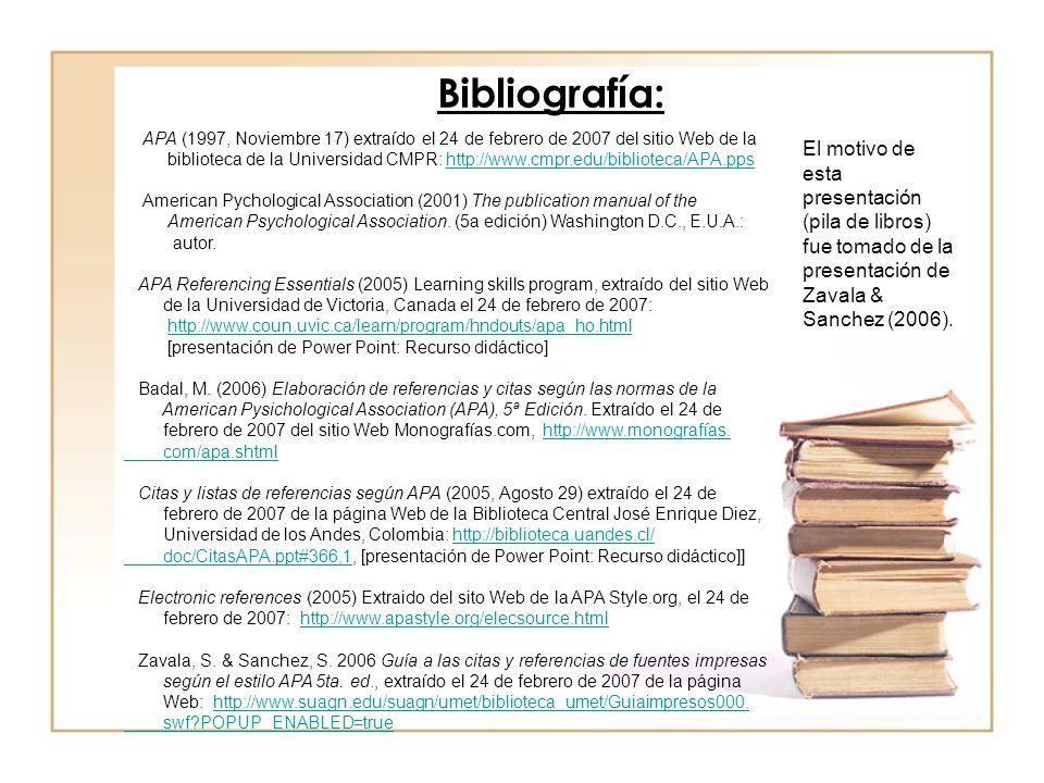 Elaboración Y Uso De Referencias Bibliográficas
