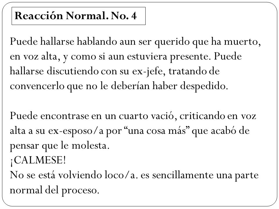 Reacción Normal. No. 4