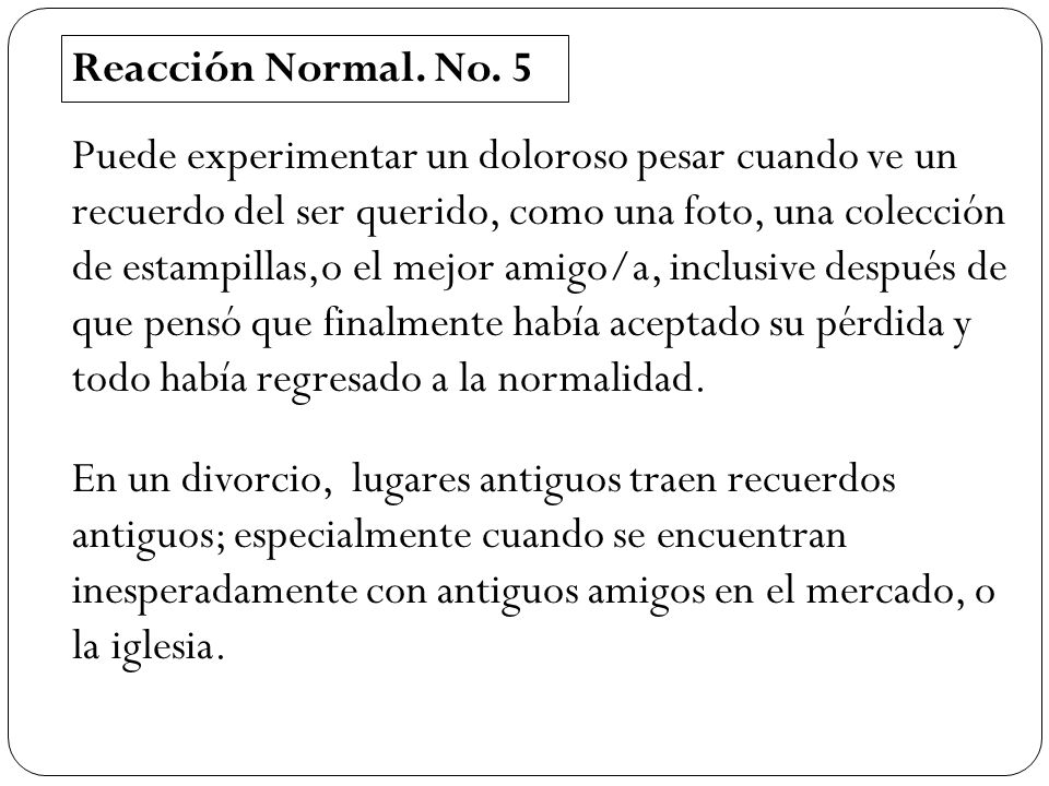 Reacción Normal. No. 5