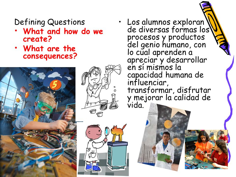 Defining Questions What and how do we create What are the consequences