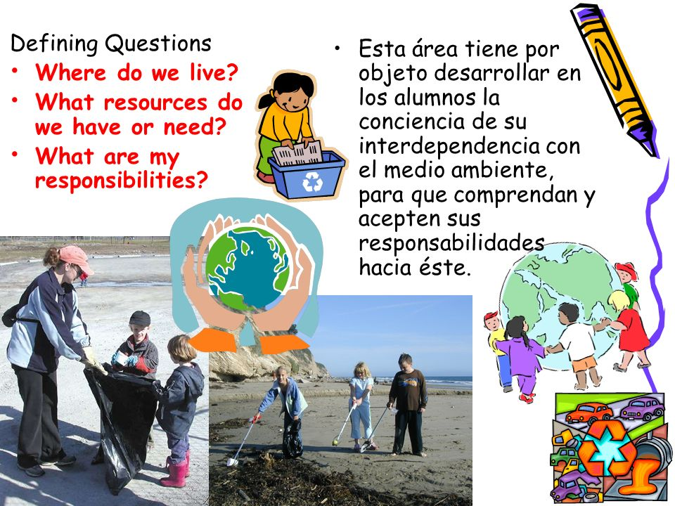Defining Questions Where do we live What resources do we have or need What are my responsibilities