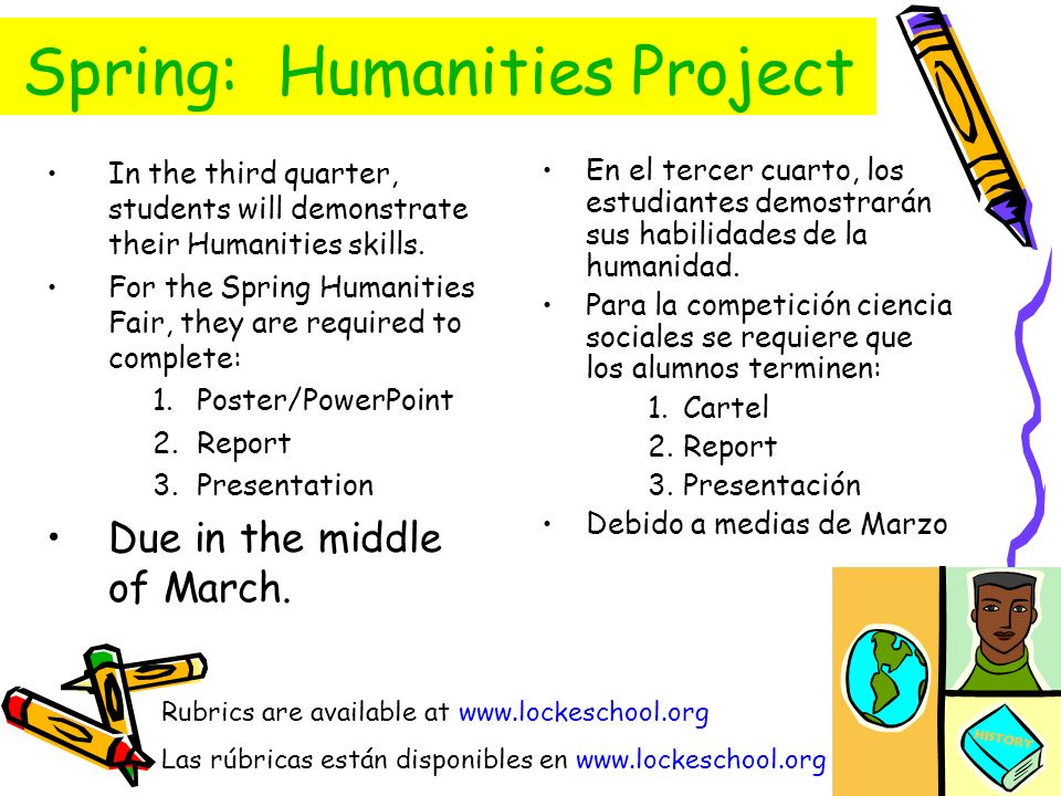 Spring: Humanities Project
