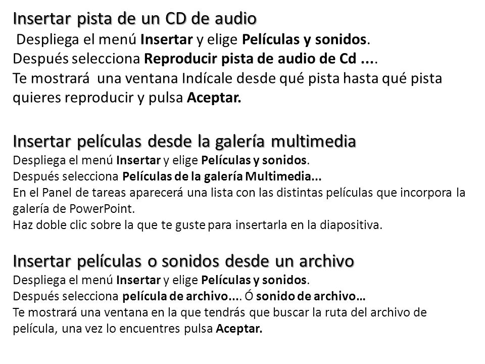 Insertar pista de un CD de audio