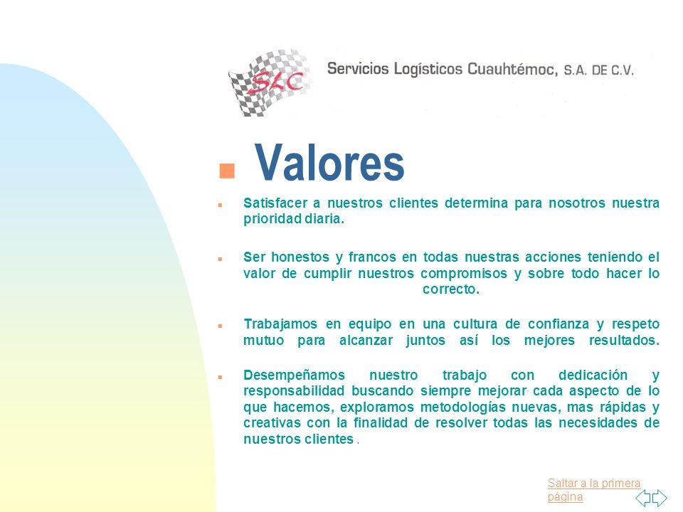 ba008ae7c0 Valores Satisfacer a nuestros clientes determina para nosotros nuestra  prioridad diaria.