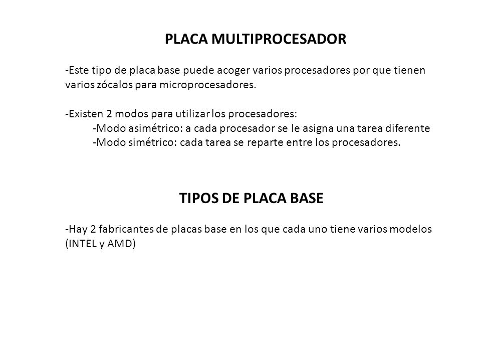 PLACA MULTIPROCESADOR