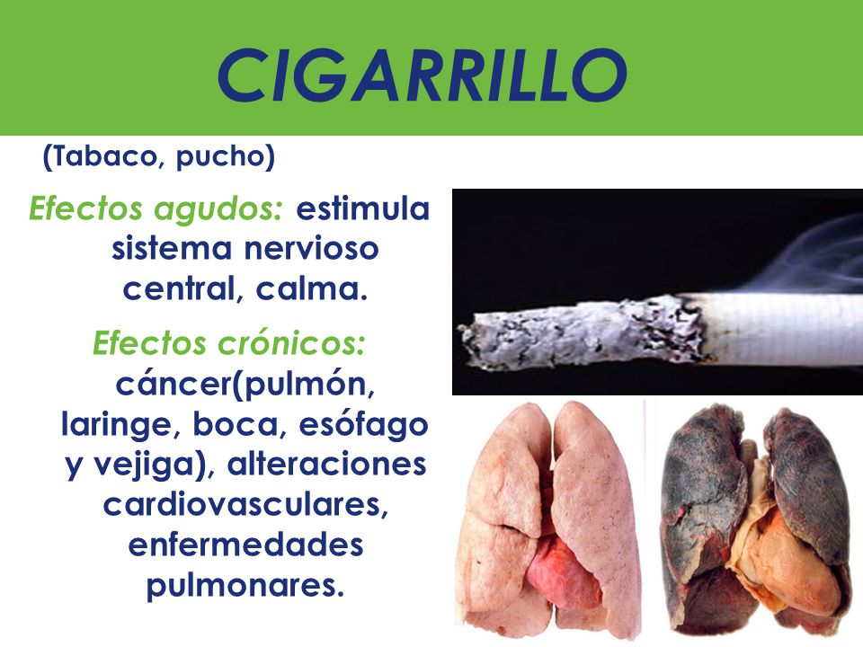 CIGARRILLO (Tabaco, pucho)