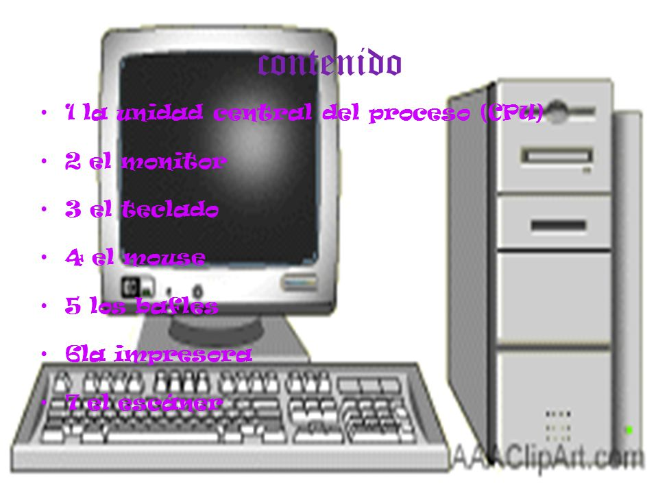 El Computador Y Sus Partes Ppt Descargar
