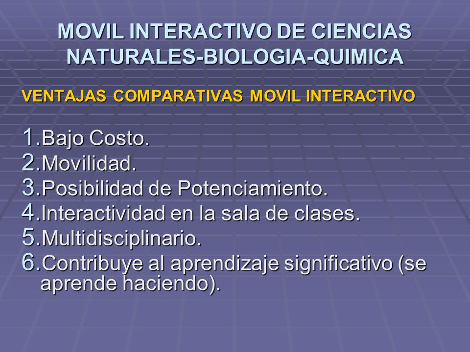 MOVIL INTERACTIVO DE CIENCIAS NATURALES-BIOLOGIA-QUIMICA