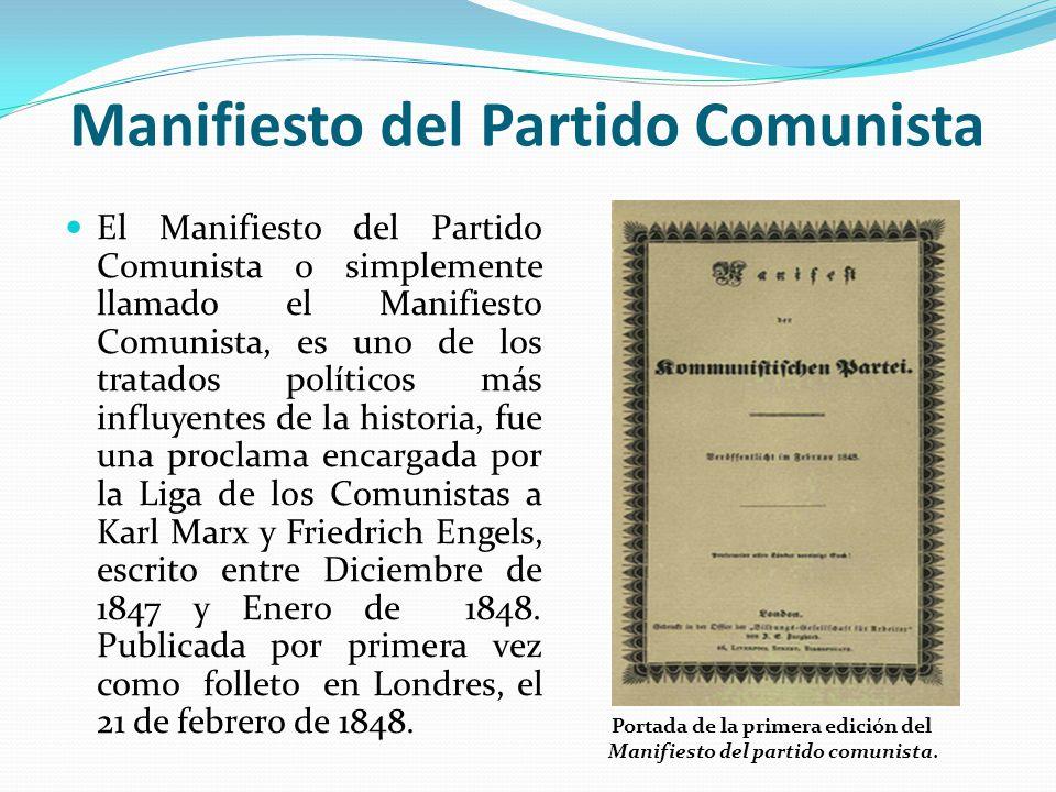 El Manifiesto Comunista Karl Heinrich Marx Friedrich Engels Ppt Video Online Descargar