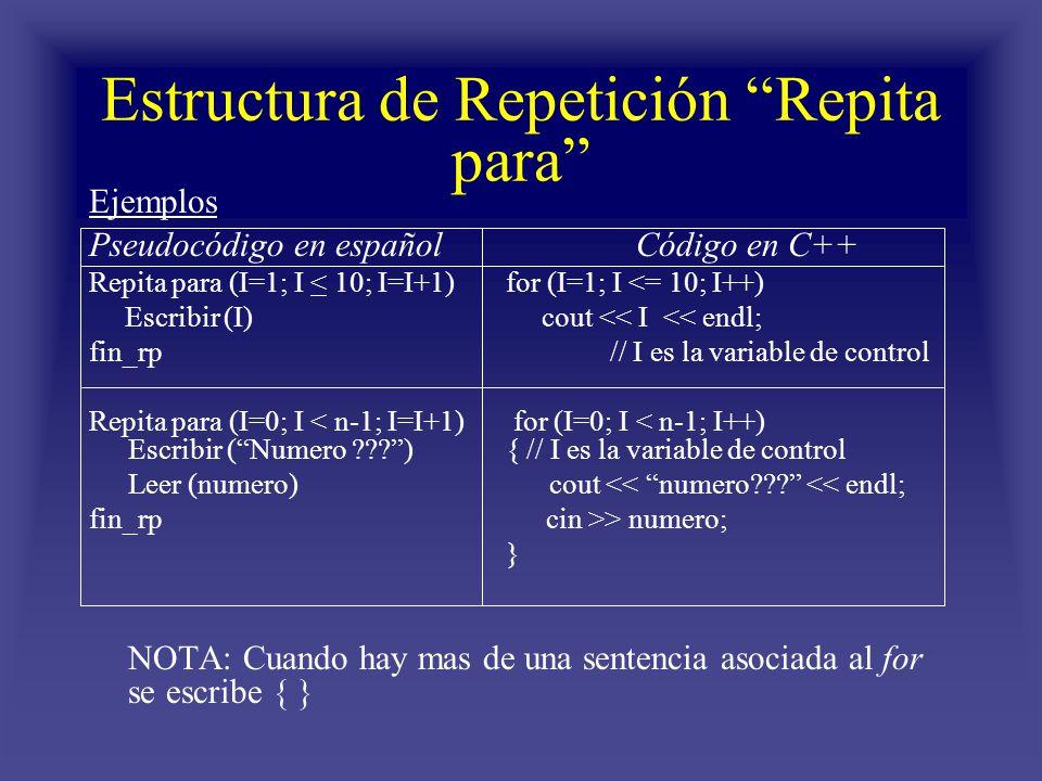 Estructuras De Repetición Repita Para Ppt Descargar