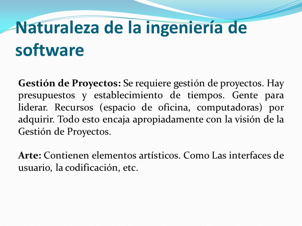 Naturaleza de la ingeniería de software