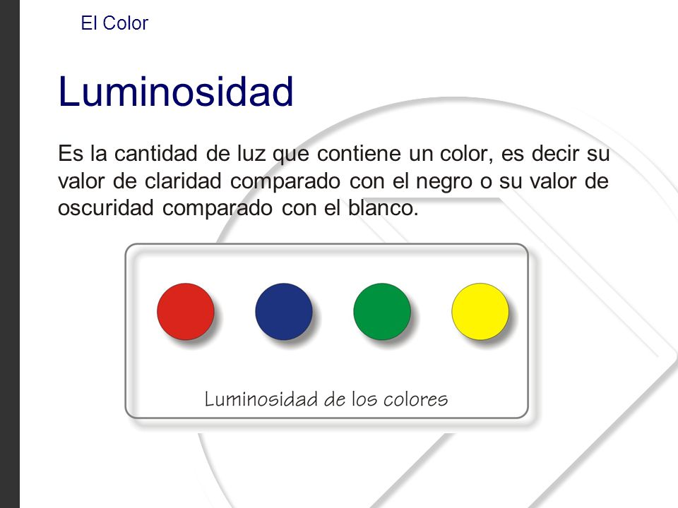 El Color Luminosidad.