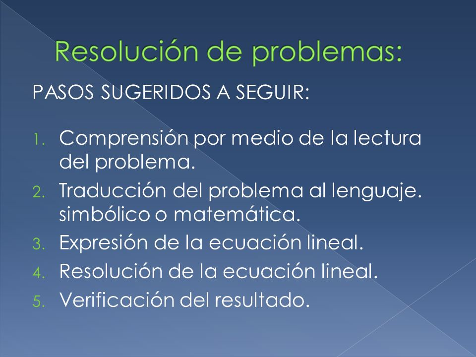 Resolución de problemas: