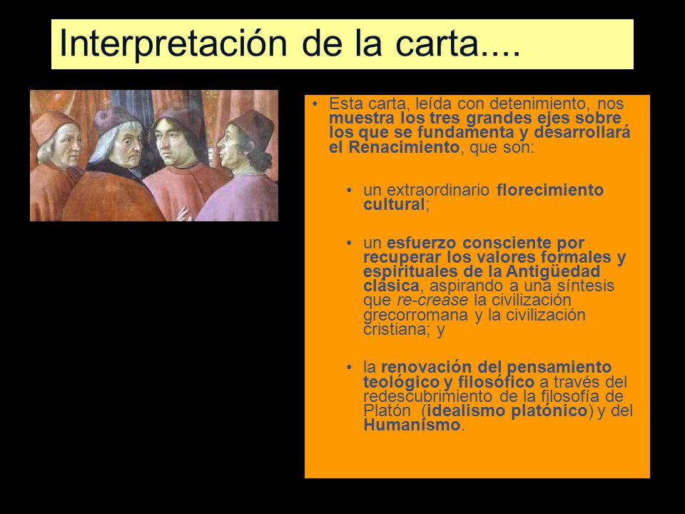 Interpretación de la carta....