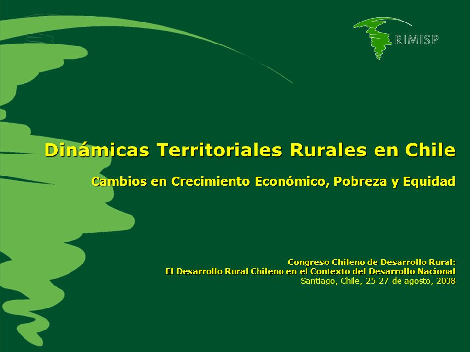Dinámicas Territoriales Rurales en Chile