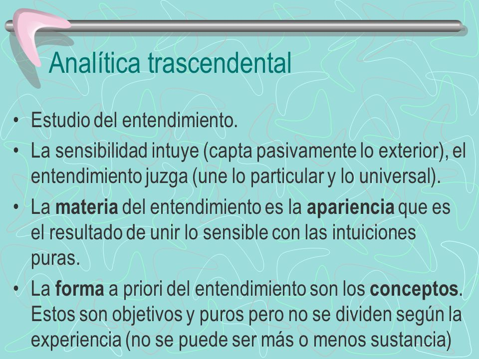 Analítica trascendental