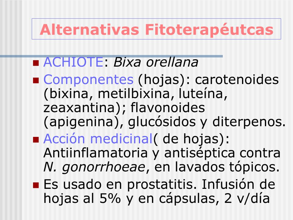 Alternativas Fitoterapéutcas