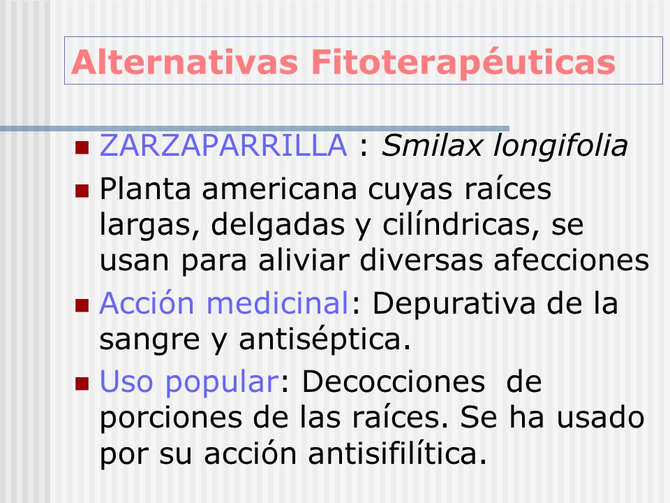 Alternativas Fitoterapéuticas