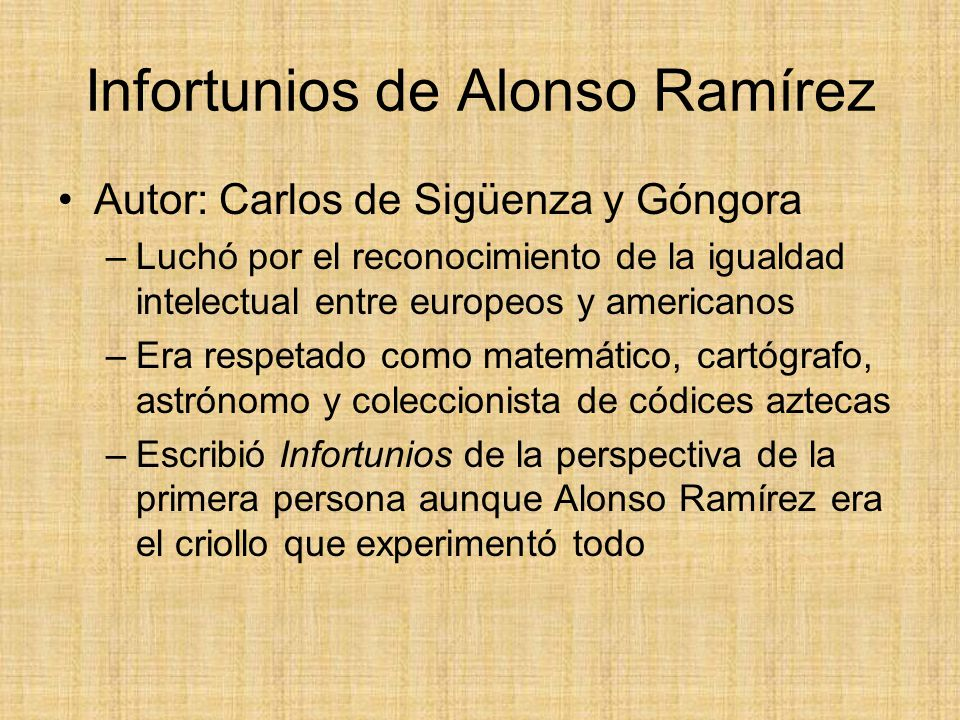 Infortunios de Alonso Ramírez
