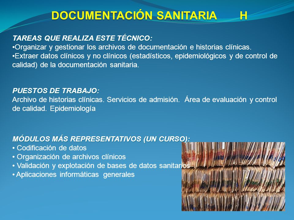 DOCUMENTACIÓN SANITARIA H