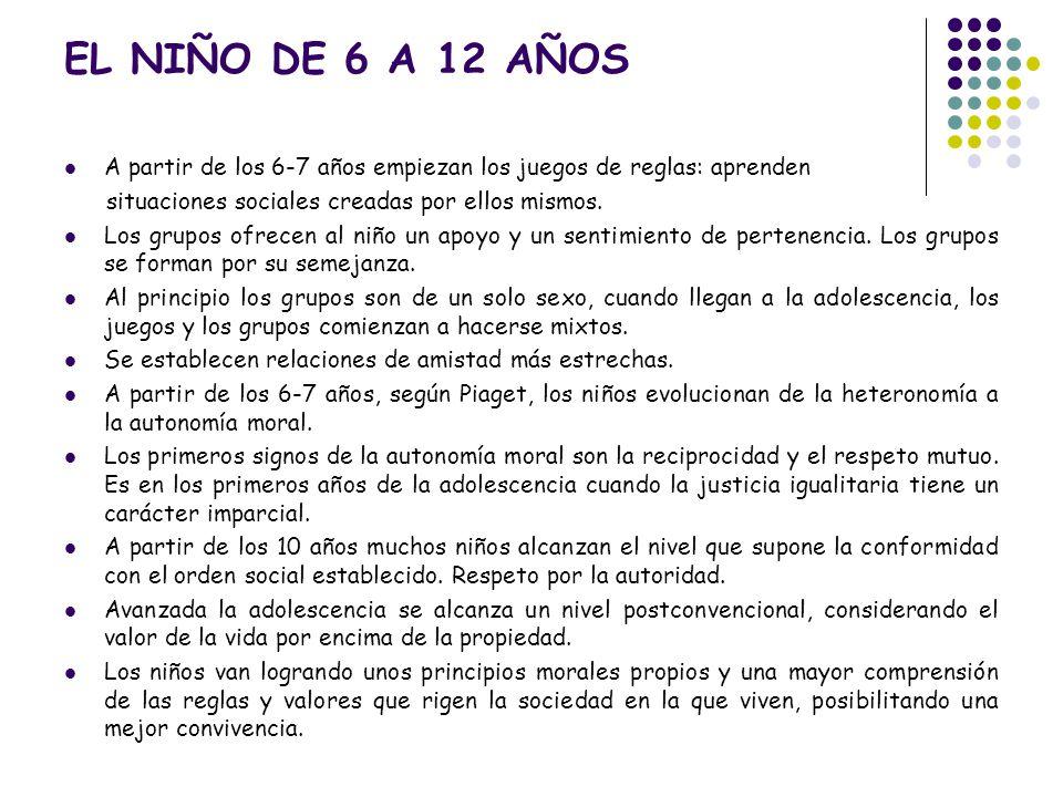 El Nino De 6 A 12 Anos A Partir De Los 6 7 Anos Empiezan Los Juegos