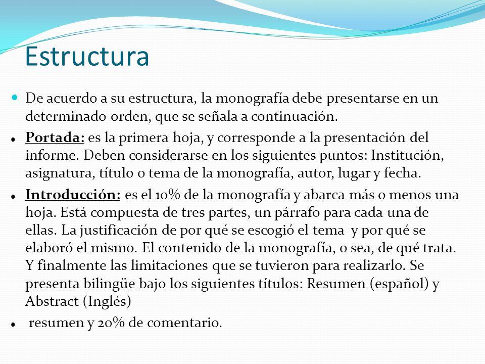 Estructura De La Monografía Ppt Descargar