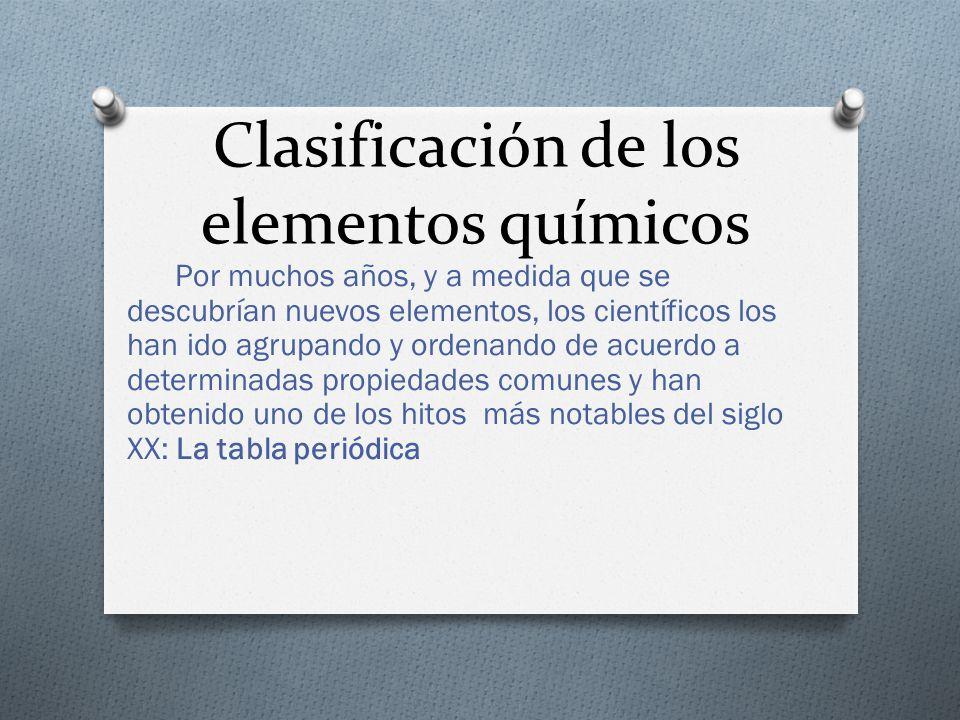 La tabla peridica ppt descargar clasificacin de los elementos qumicos urtaz Images