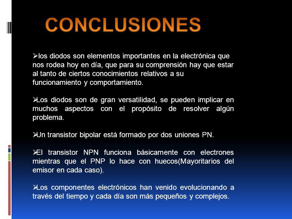 Semiconductores conclusión