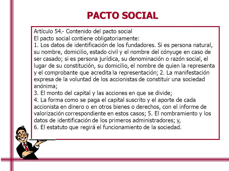 Las sociedades en el per constituci n y rganos ppt for Que es un articulo cultural o de espectaculos