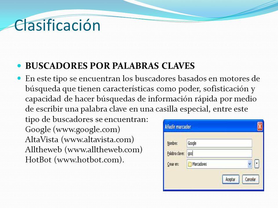 1f1a67eb28127 Clasificación BUSCADORES POR PALABRAS CLAVES