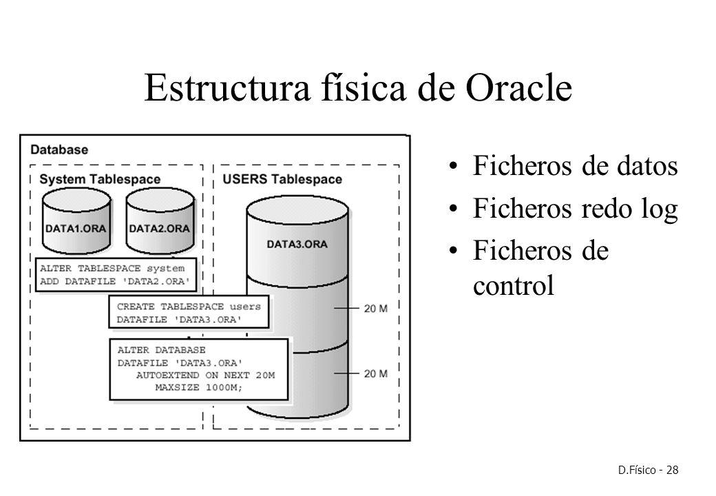 Diseño Físico Especificación De Estructuras De