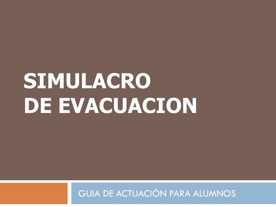 Simulacro Evacuacion