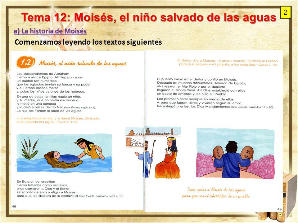 Tema 12 Moises El Nino Salvado De Las Aguas Ppt Video Online