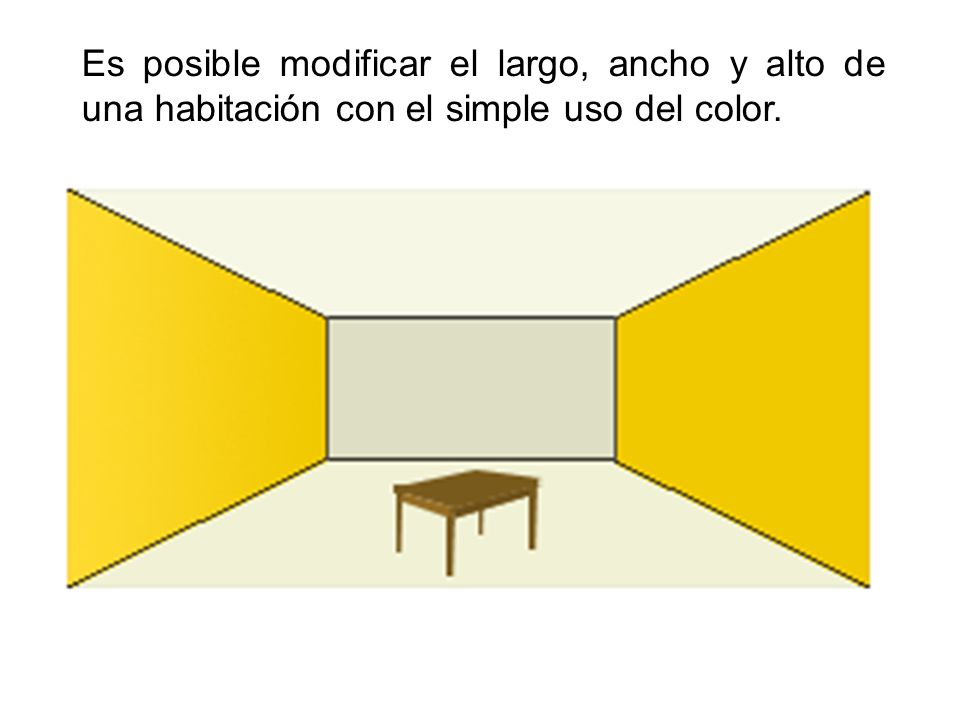Es posible modificar el largo, ancho y alto de una habitación con el simple uso del color.