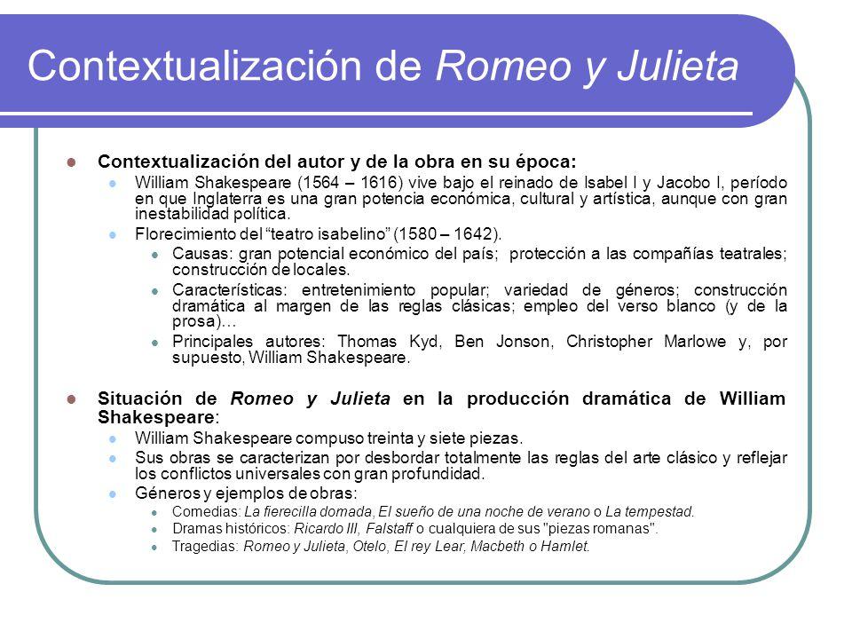 Tema 4 Romeo Y Julieta De William Shakespeare Ppt Descargar