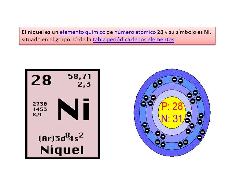 Curso qumica inorgnica 2009 i ppt descargar 12 el nquel es un elemento qumico de nmero atmico 28 y su smbolo es ni situado en el grupo 10 de la tabla peridica de los elementos urtaz Choice Image