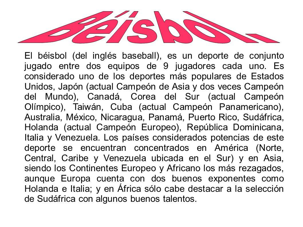 Béisbol. El béisbol (del inglés baseball) e847b8fd9cd