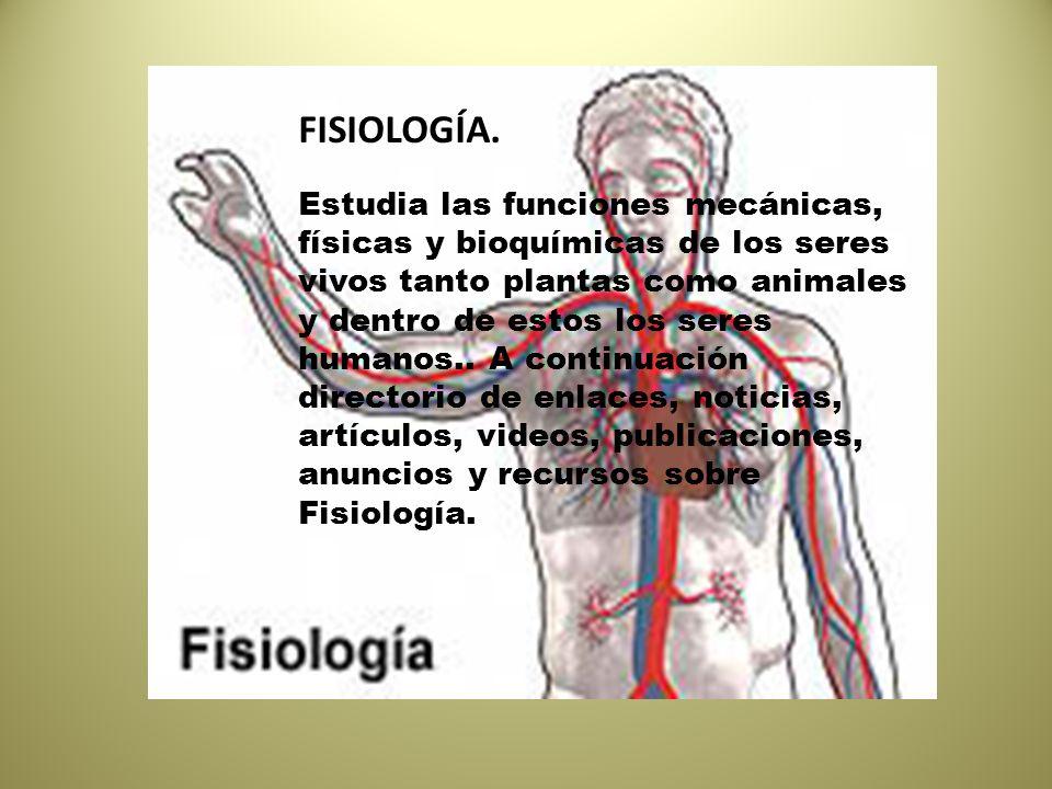 Definición de la fisiología - ppt descargar