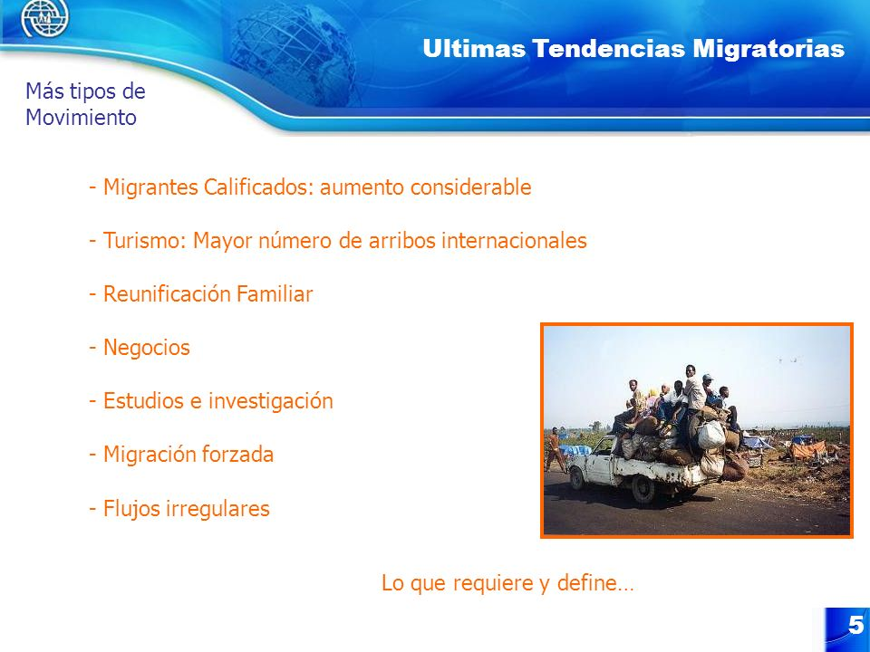 Ultimas Tendencias Migratorias