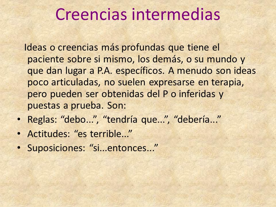 Creencias intermedias