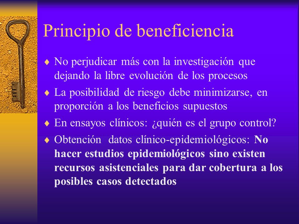 Principio de beneficiencia