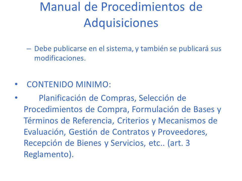 Manual de procedimientos para compras.