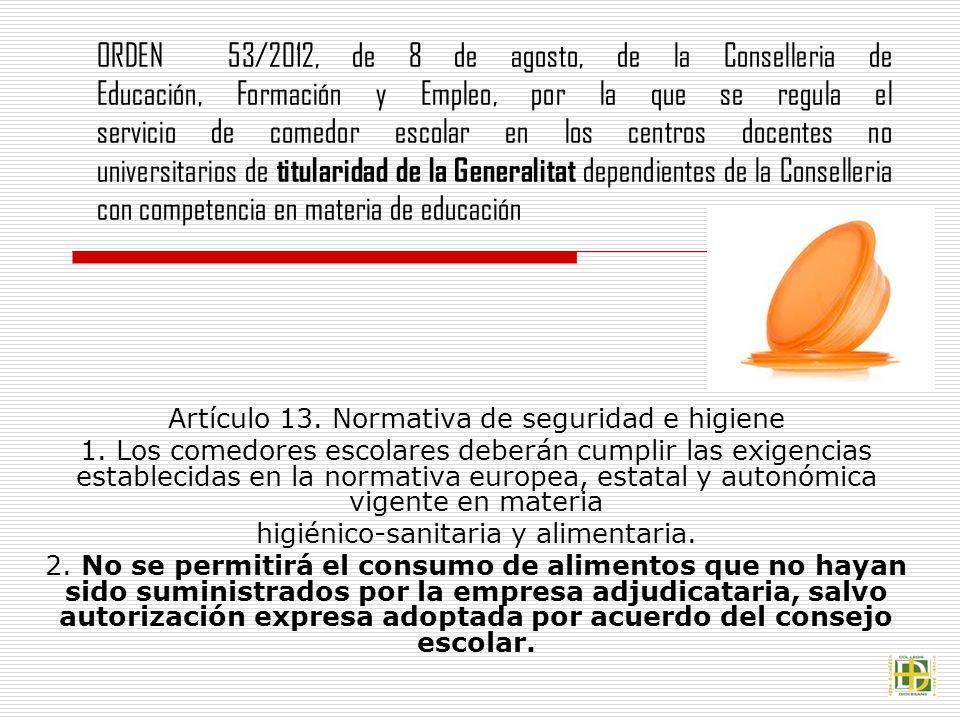 Emejing Normativa Comedores Escolares Contemporary - Casas: Ideas ...